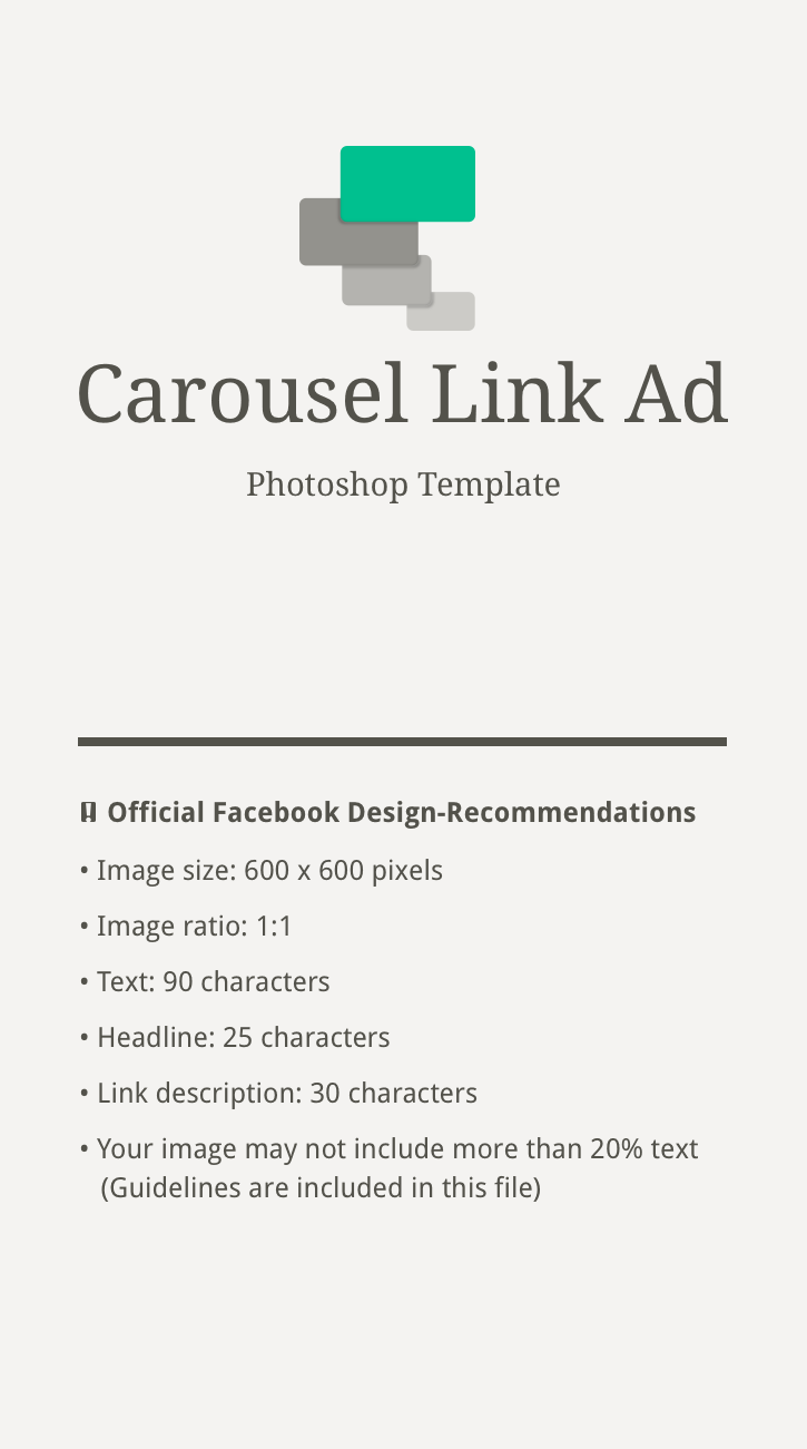 Facebook Carousel Link Ad – free Photoshop Template on Behance