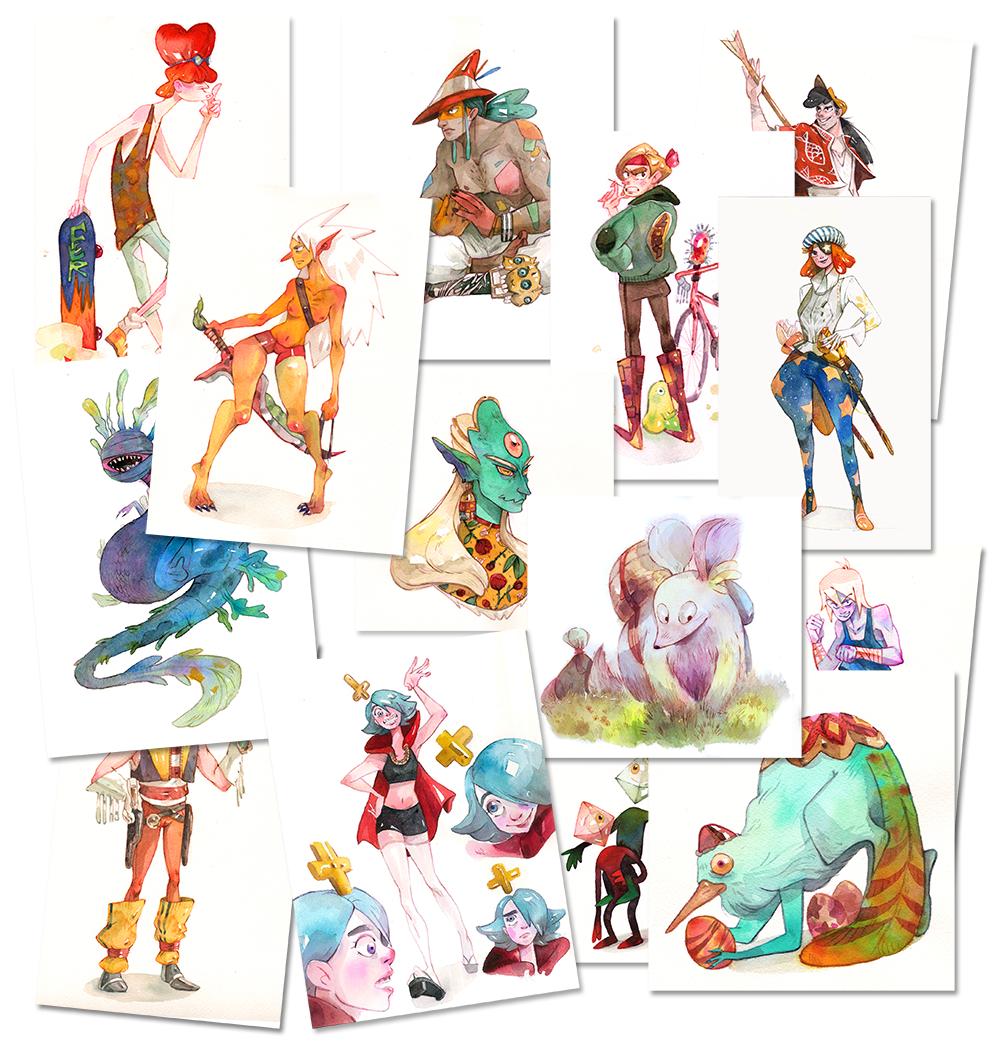 Character Design Kickstarter : Asteroid artbook kickstarter on behance