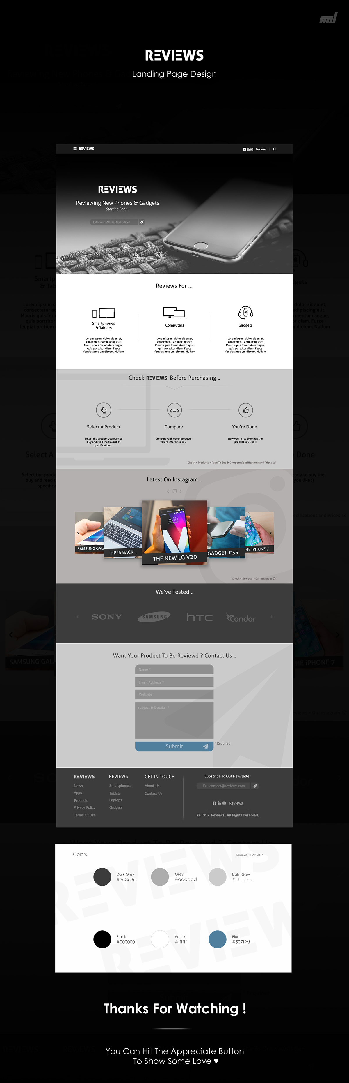 UI / Tech Website Landing Page Template .. on Wacom Gallery