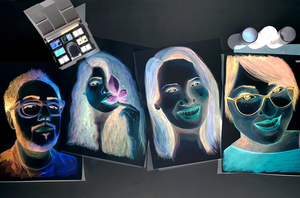 stephanymarlen3 man face portrait watercolor ILLUSTRATION  art eye mexico game