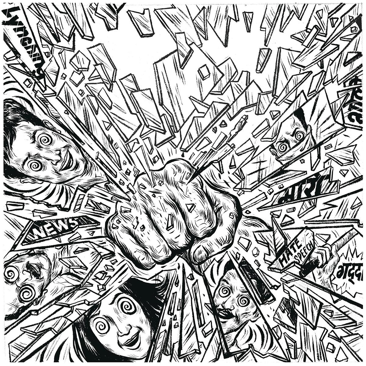 albumart ArtDirection artwork Digital Art  Drawing  illustartion inkdrawing