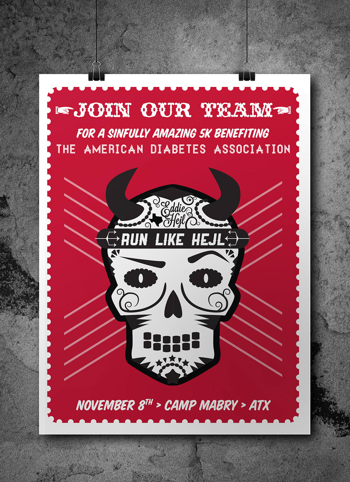 Ada 5k Team Run Like Hejl Poster And T Shirt Design On Aiga Member