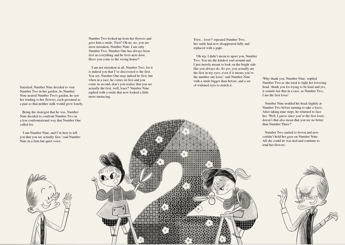 storybook Picture book numbers Character design  children book ILLUSTRATION  typography   Layout graphic design  CMYK