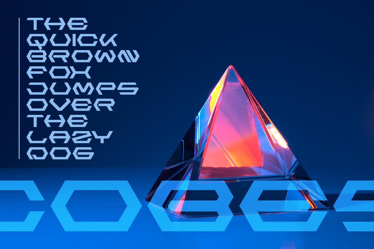 branding  cobes decorative designfont font futuristic Logotype youtubefont