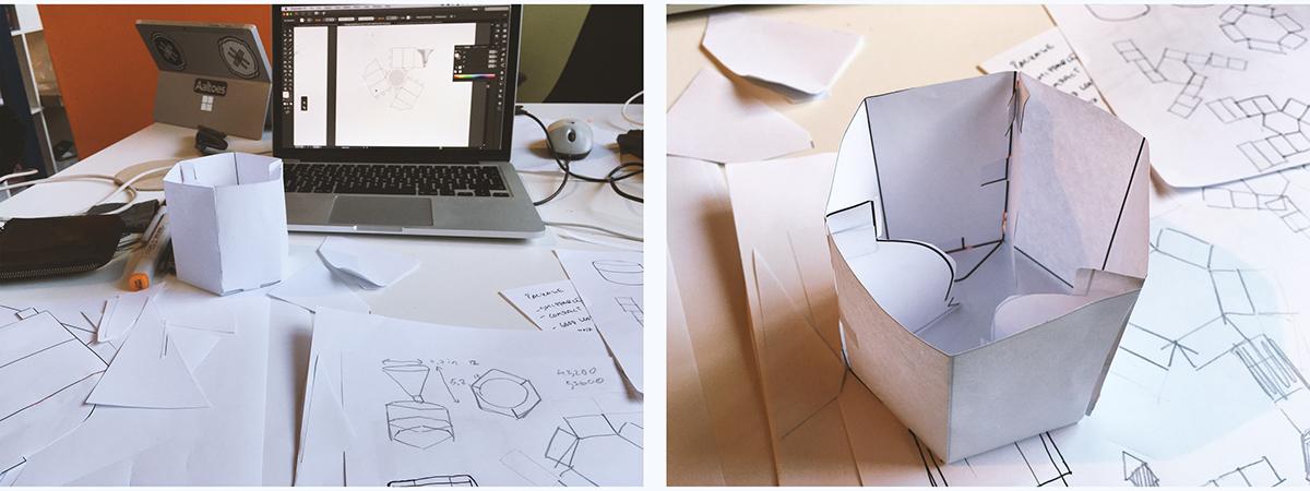 Kaio package packagedesign branding  logo box hexagon