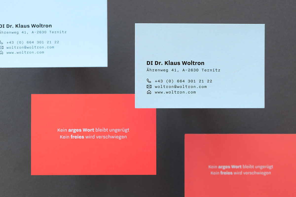 Klaus Woltron — Business Card on Behance