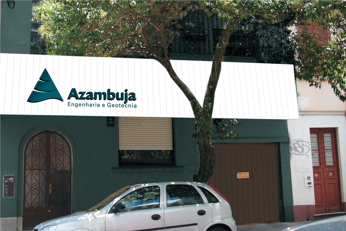 marca material gráfico Azambuja Engenharia Hiperdesign papelaria