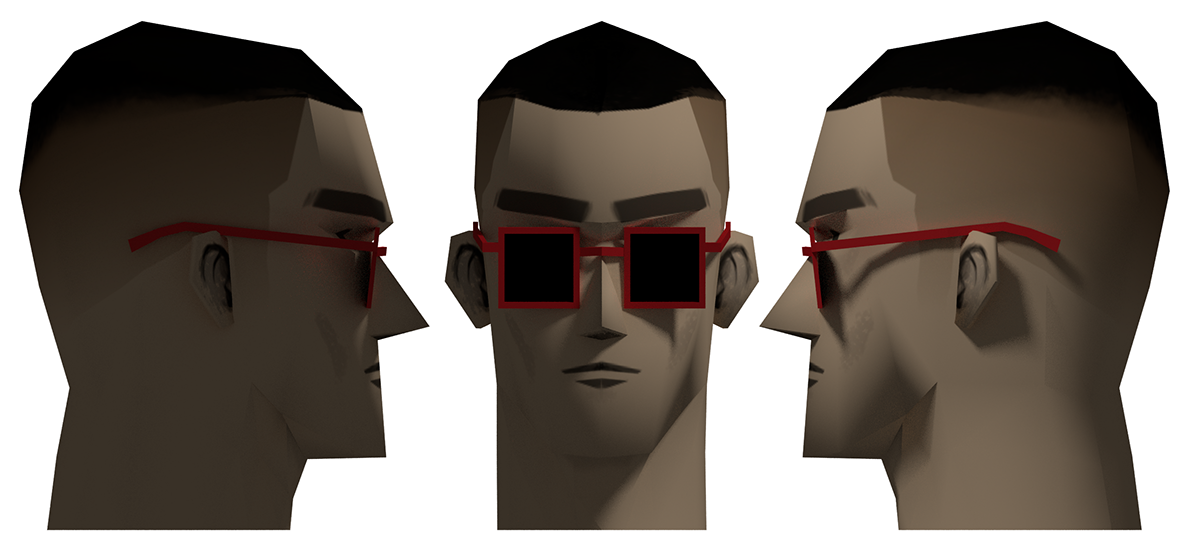 Character Design In Blender : Low poly male character head blender d on behance