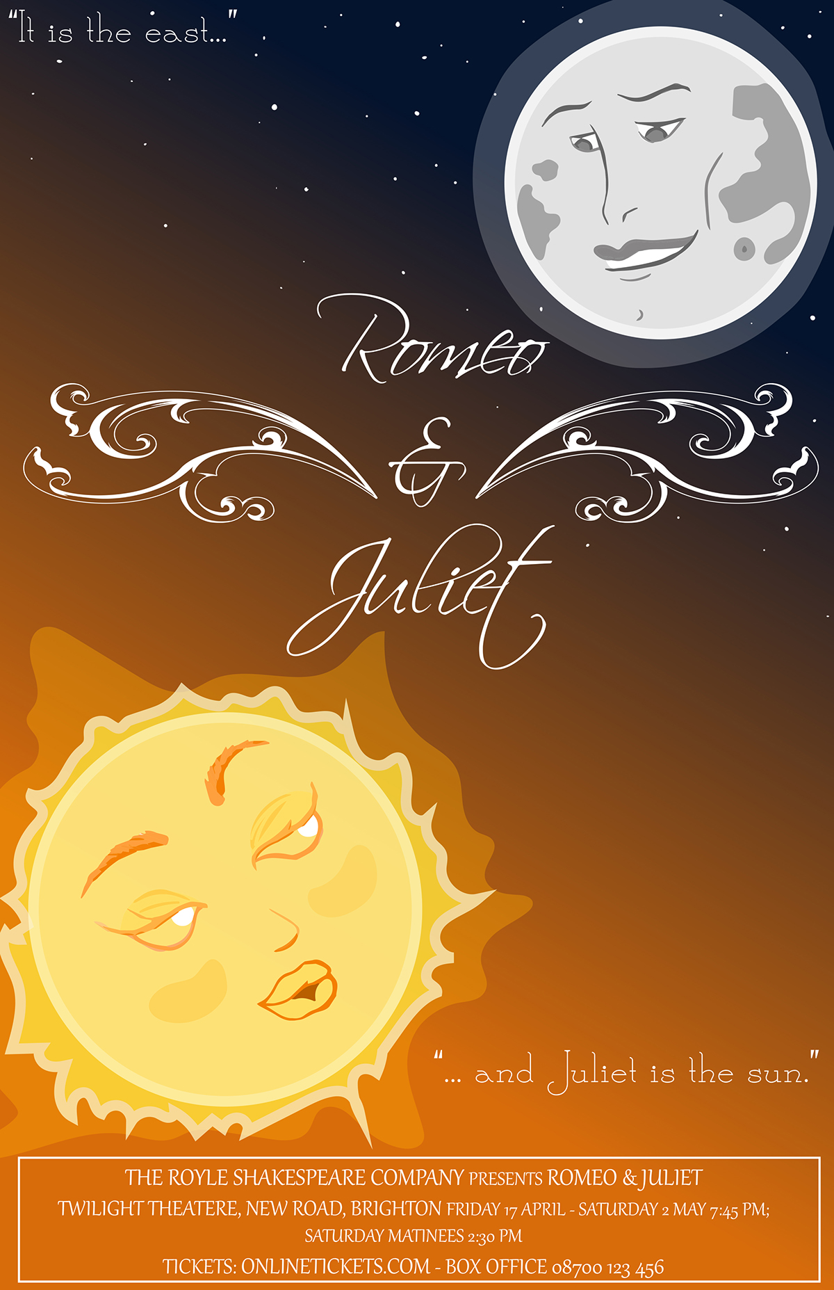 This Project Involved Creating A Series Of Movie Posters That Represented The Classic Tale Romeo Juliet Theme Were Chosen According