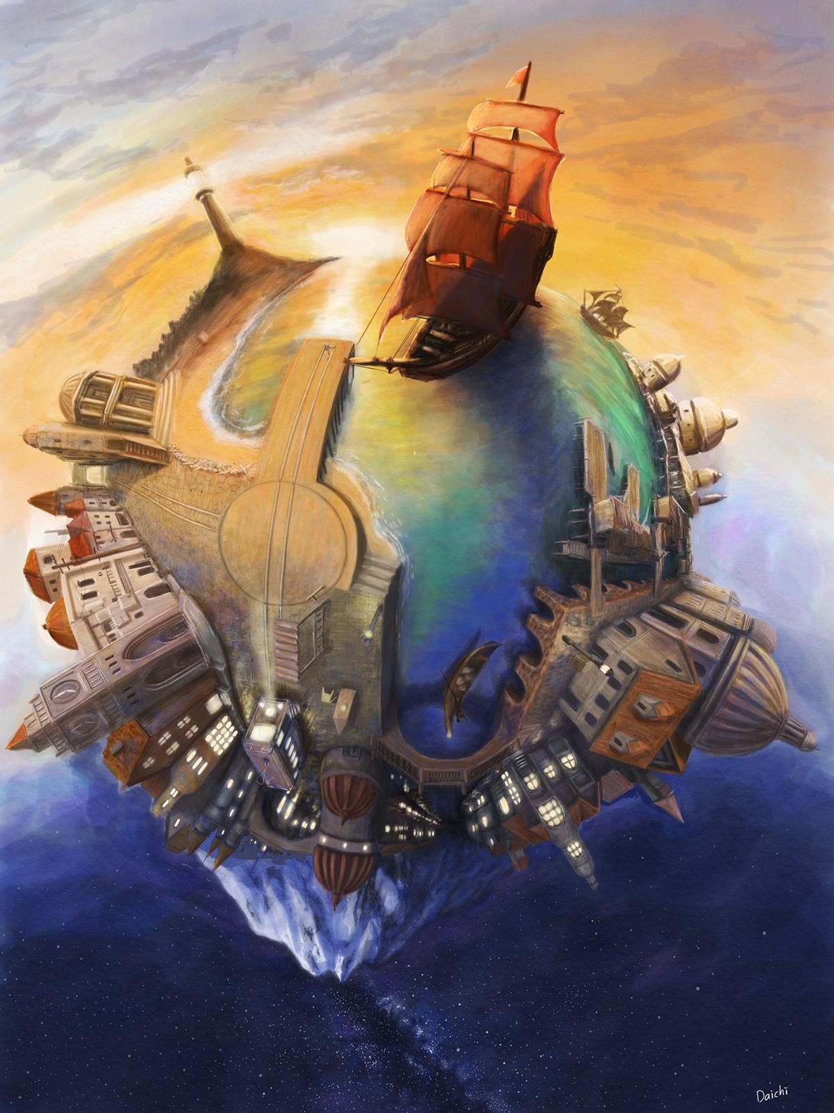 Floating City Concept Art