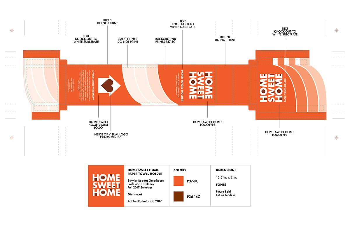 Home Sweet Home (Rebrand and Package Design) on Pratt Portfolios