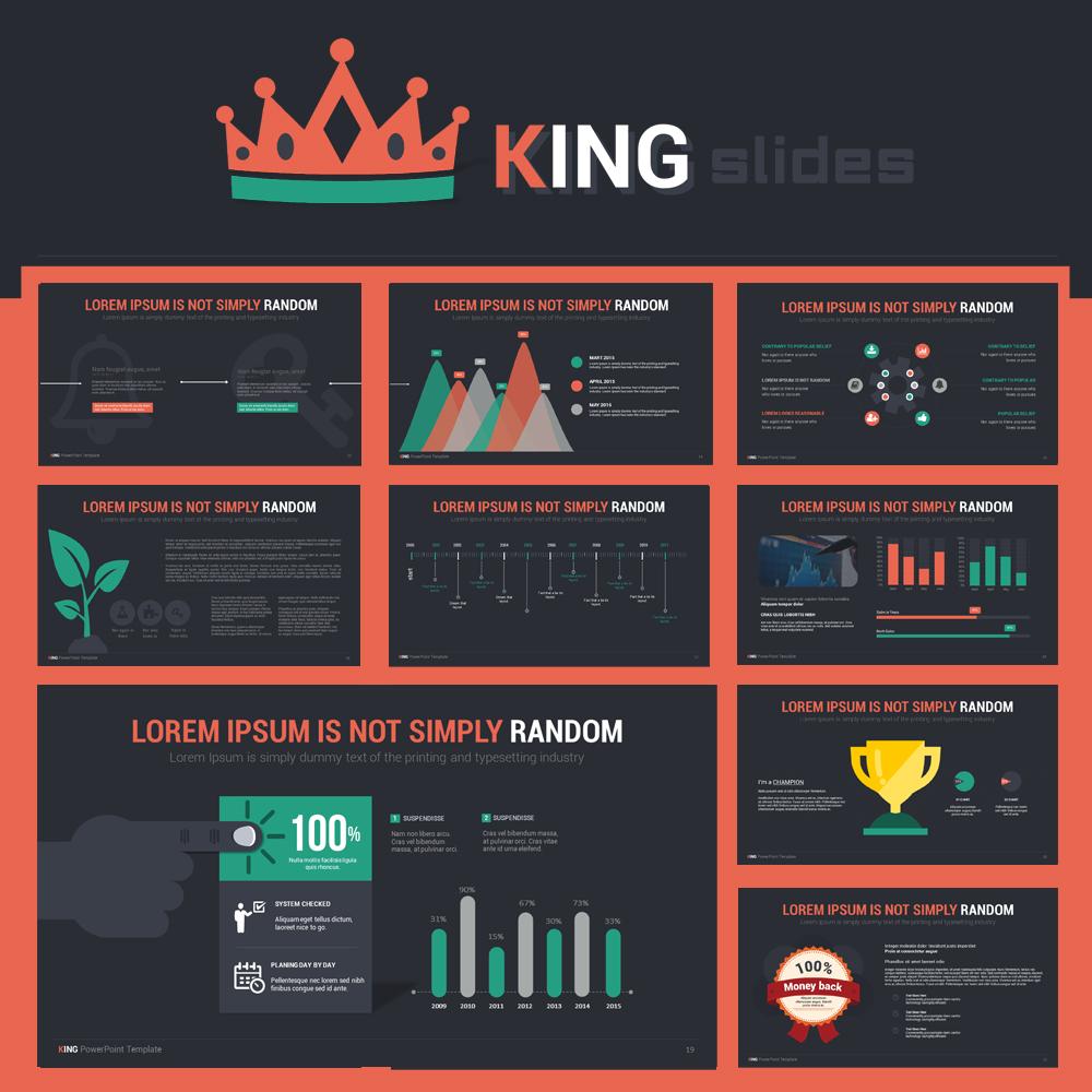 King powerpoint template on behance powerpoint templates magazine templates photo album templates toneelgroepblik Images