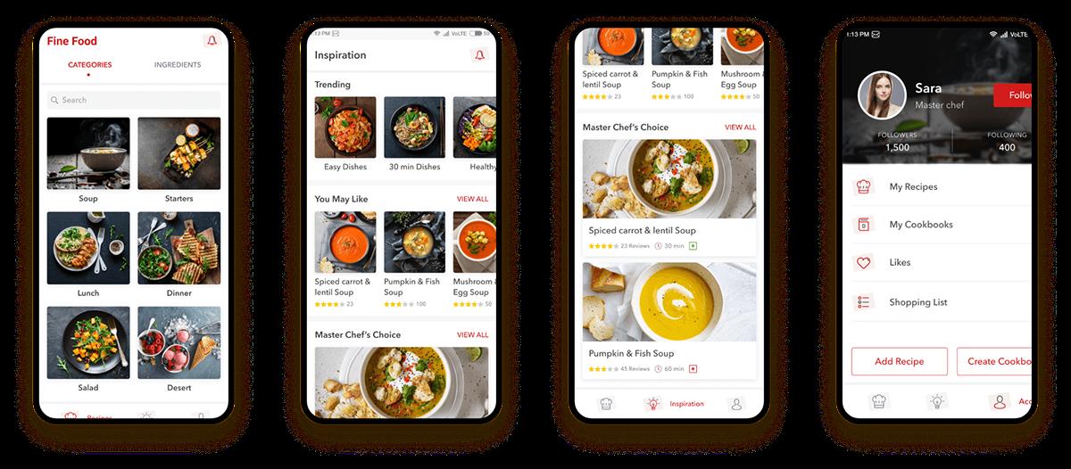 recipe Food  food delivery food menu UIUX design recipe app Android App