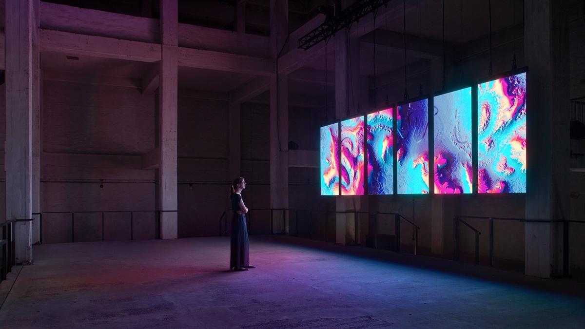 Meandering RIver, audiovisual art installation