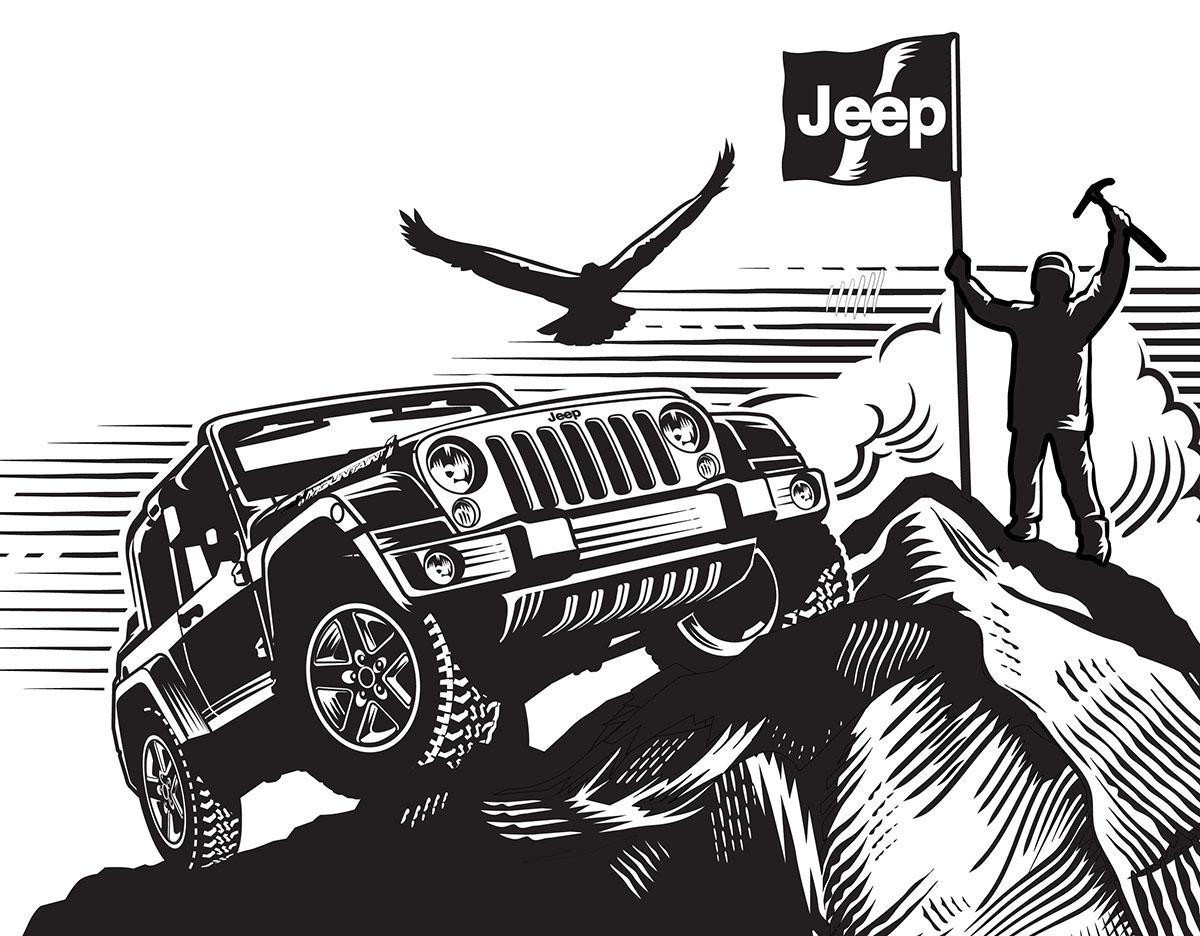 Garth Glazier Logo Projects Jeep Wrangler And Quaile Ale