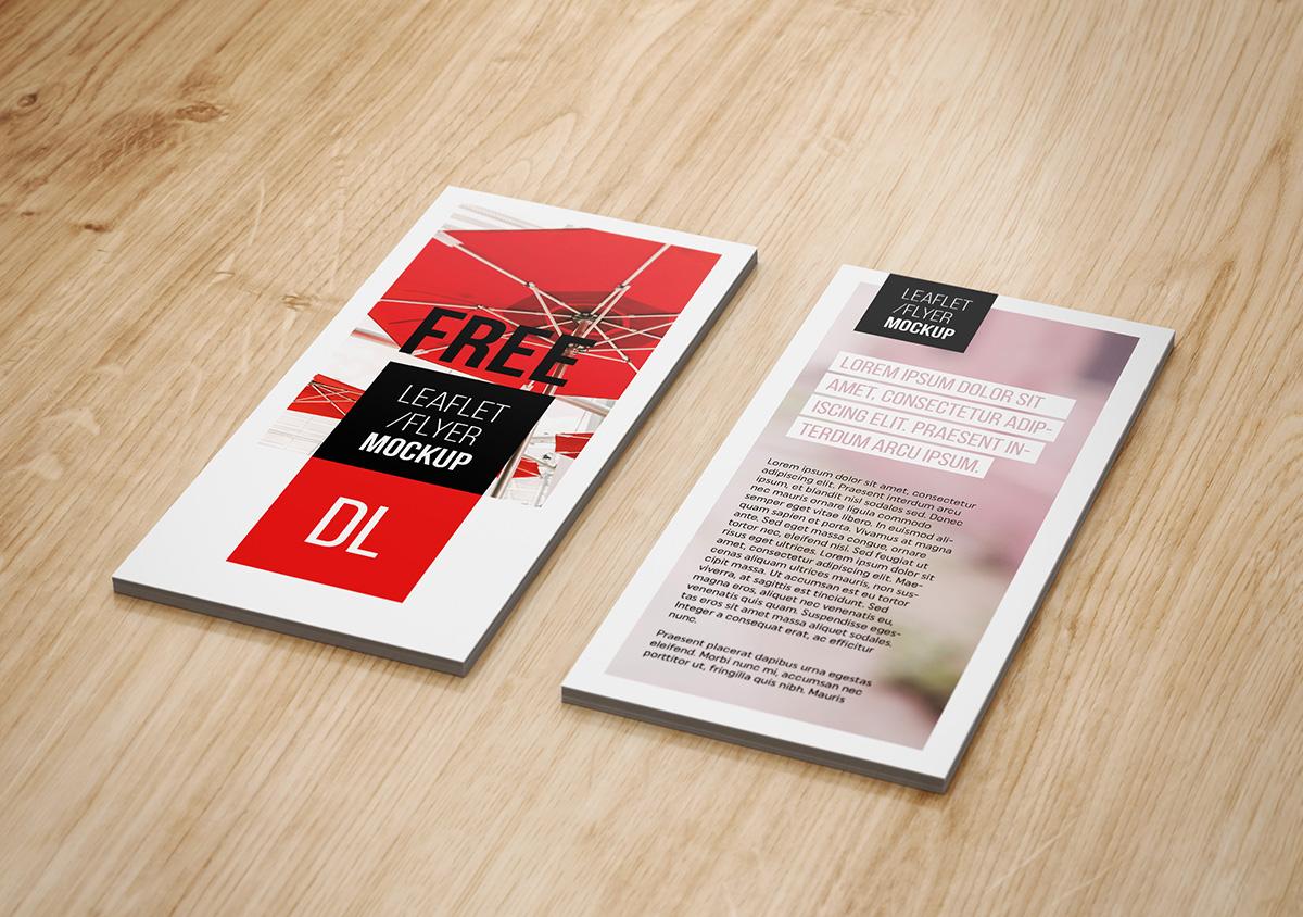 free dl flyer mockup on behance
