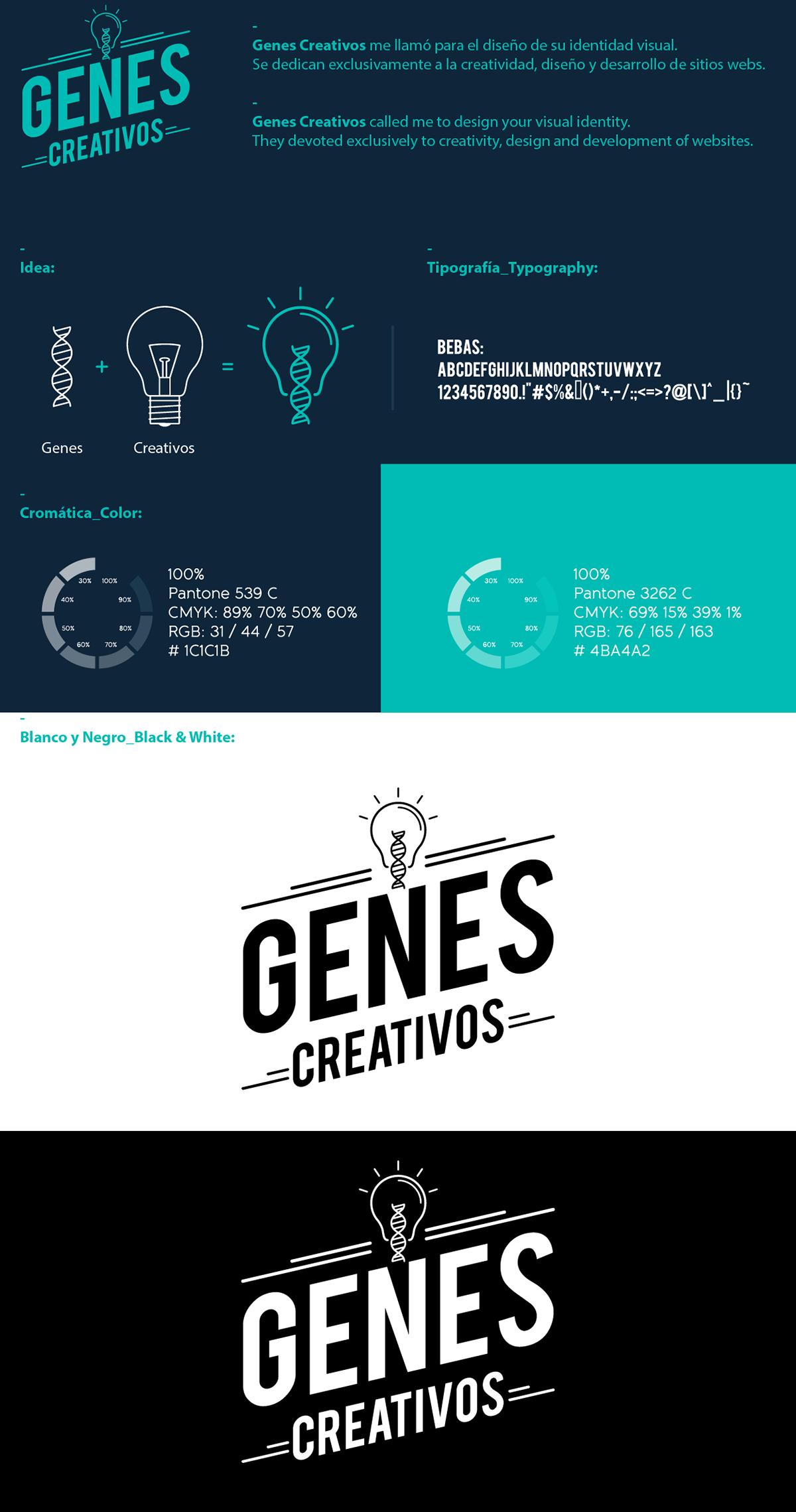 logo Genes brand gen logos colors Cores colores diseño design marca tipografia icono Web
