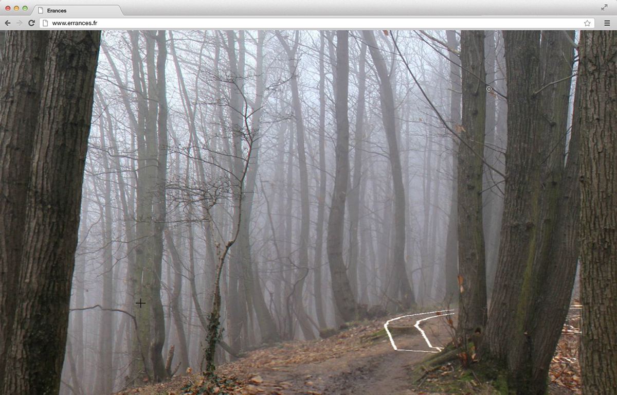experimental forest walk photo panorama immersive interactive