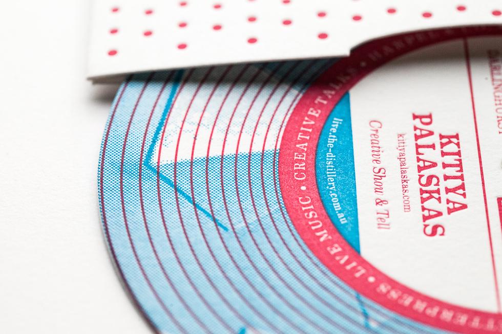 record paper letterpress vinyl invitations Live Musi