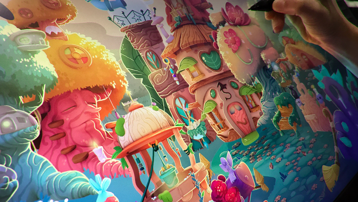 game home bubble 3D ILLUSTRATION  color king witch Stella backgrond