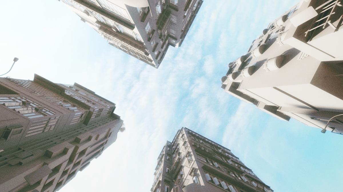 Hong Kong Old Building | 3D Modeling on Behance