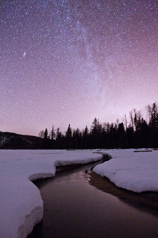 The Milky Way over Gruchy's Beach, Terrace, BC.