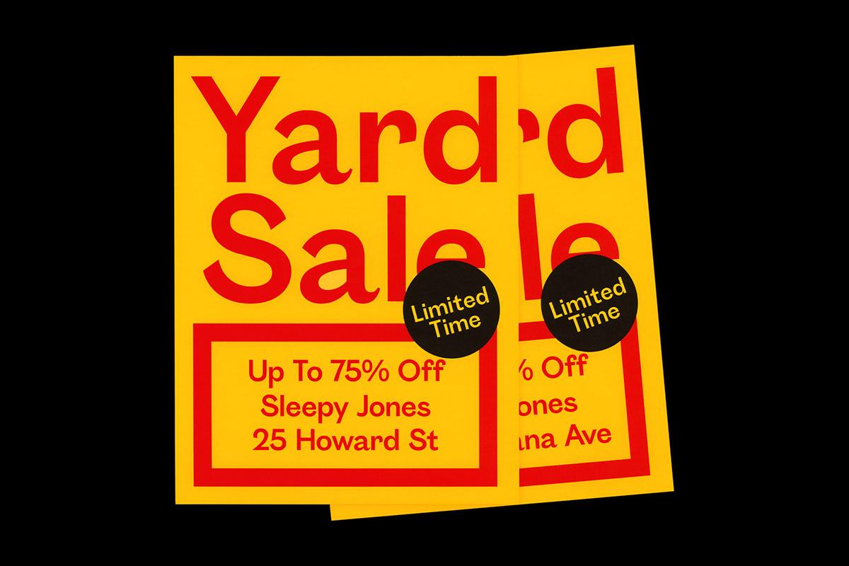 sleepy jones yard sale flyer on sva portfolios