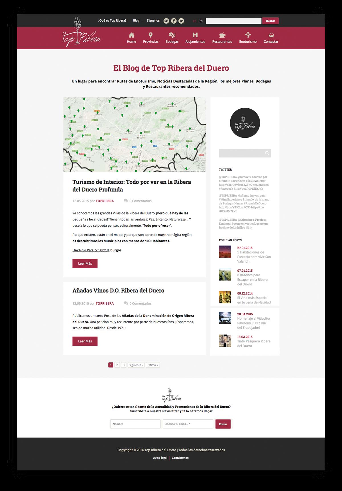 Adobe Portfolio Web design topribera Webdesign topriberadelduero bodegas UI ux
