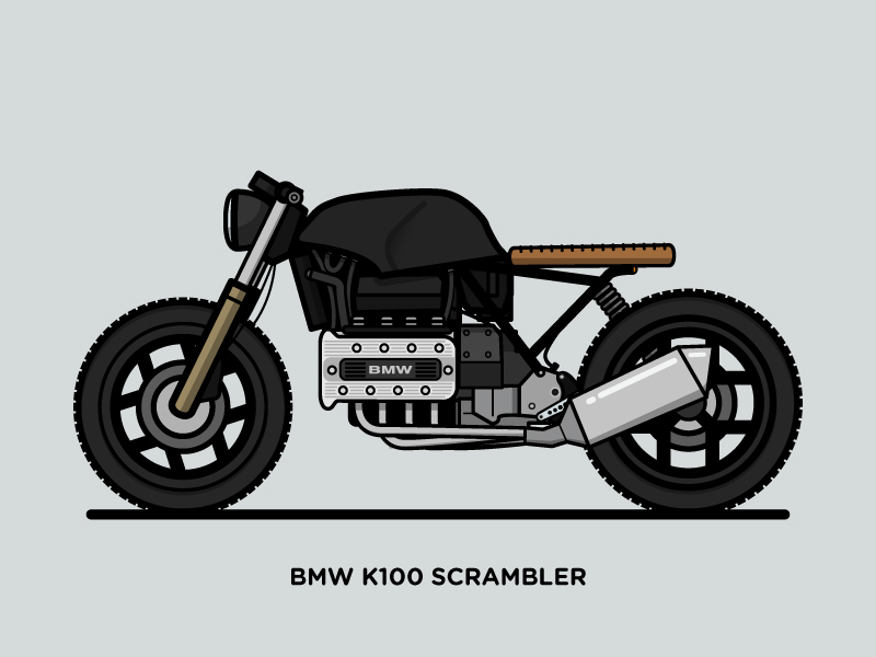 bmw k100 scrambler on behance. Black Bedroom Furniture Sets. Home Design Ideas