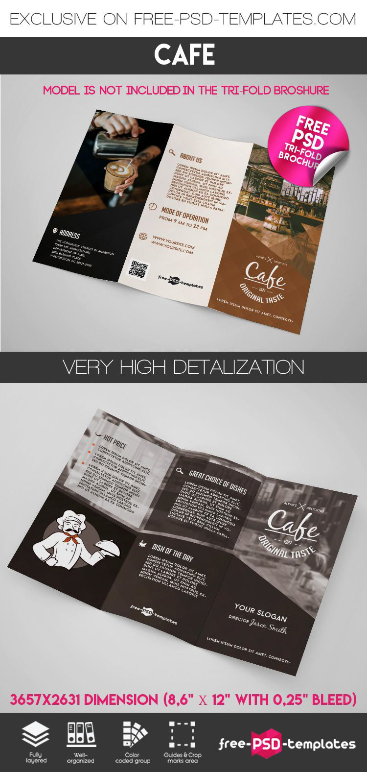 Free Cafe Tri Fold Brochure In Psd On Behance