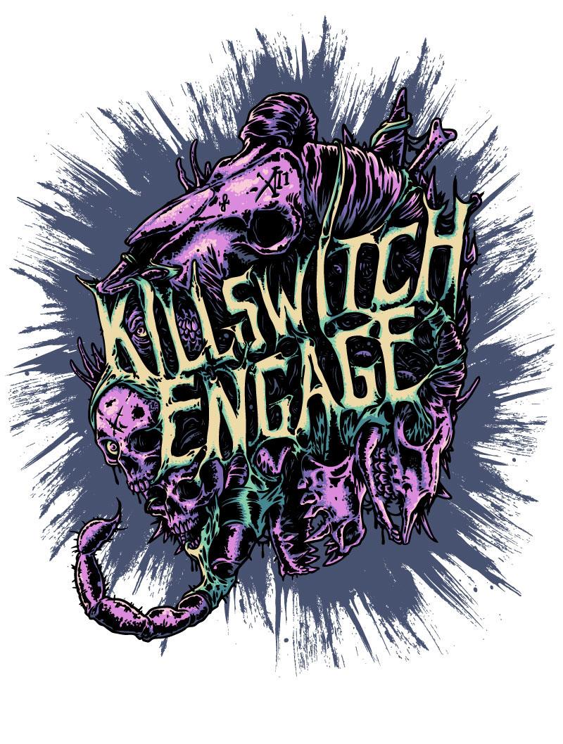 Killswitch Engage 2018 Tour Merch on Behance
