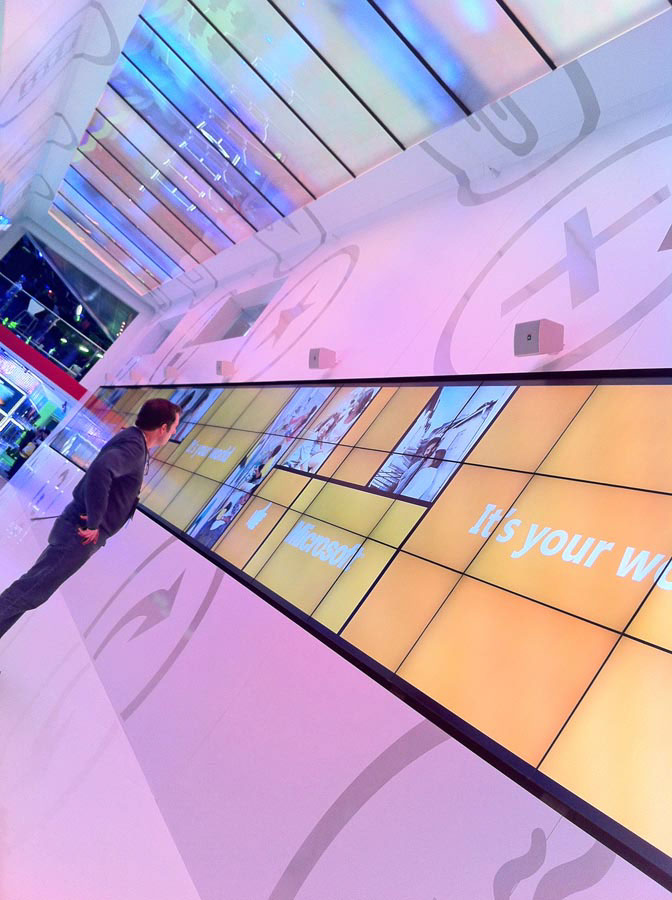 Microsoft CES Video wall Keynote