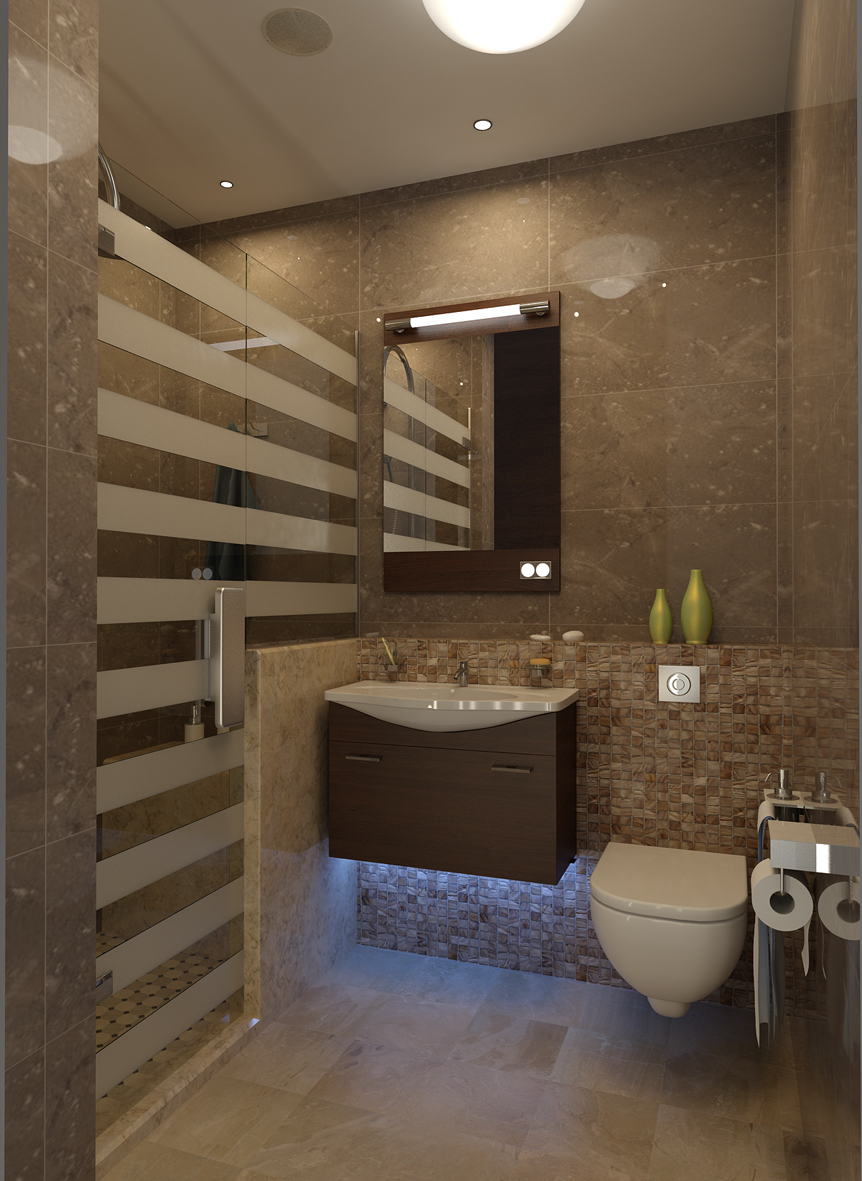 2 x 1 5 bathroom on behance for Kitchen design 4m x 2m