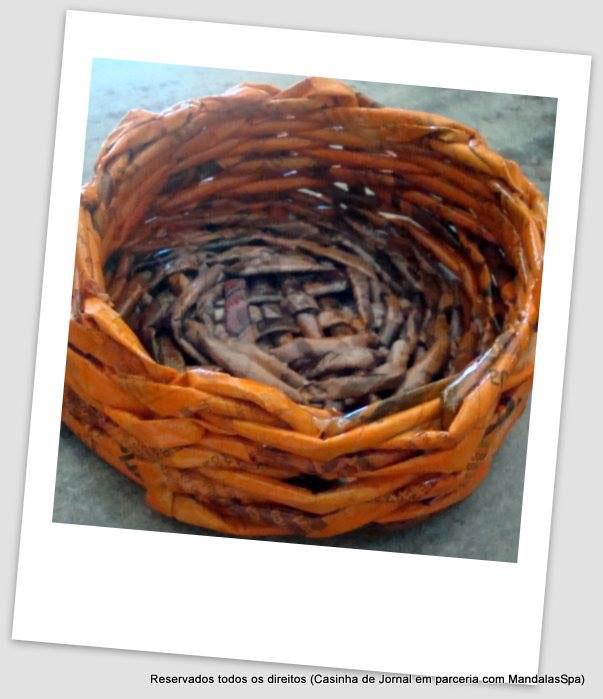 artesanato reciclagem jornal