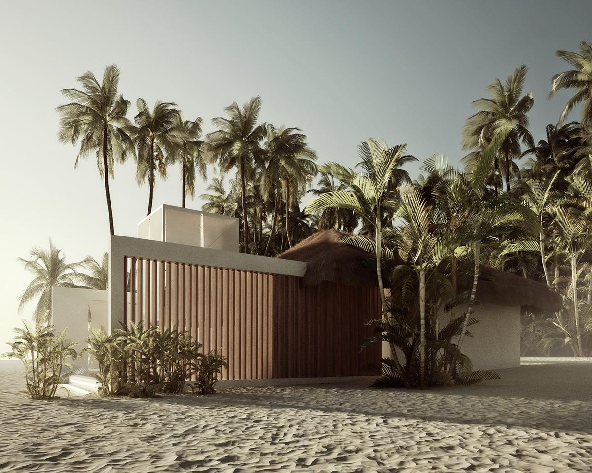 Beach villa design on behance for Beach villa design