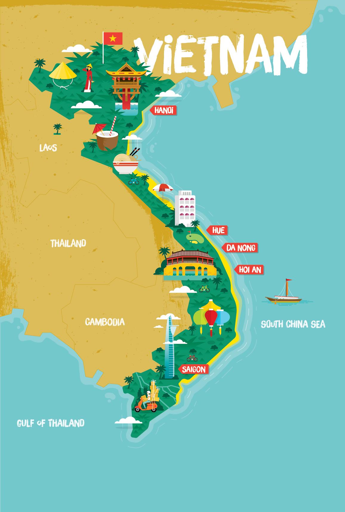 Vietnam Tourist Map on Behance