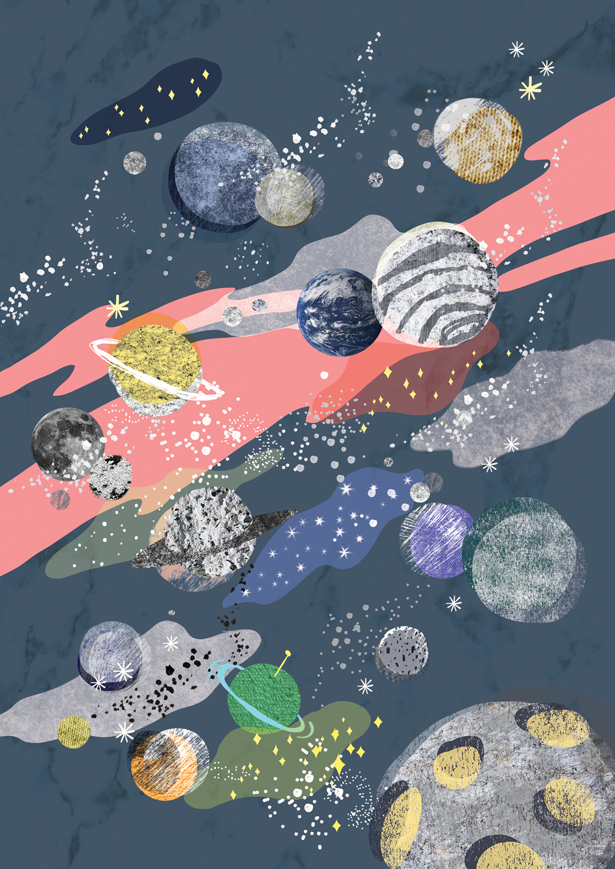 illustrations for essay book on behance i made few illustration works for the essay book which tells some stories about universe constellation and writer s experiences and so on