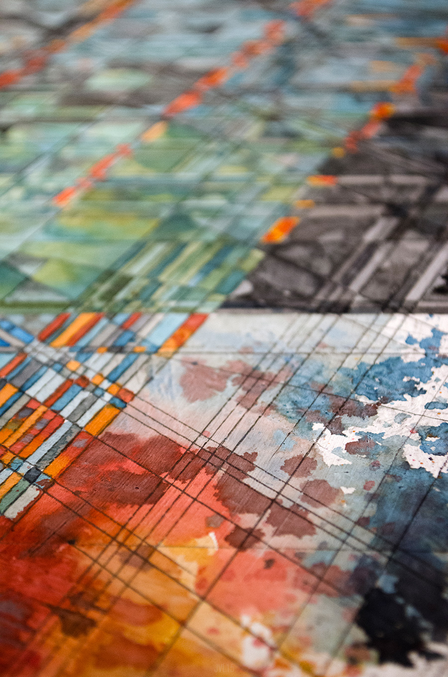 explosions in the SKY jacob van loon rockford Dekalb chicago architectural geometric textural abstraction colorful color texture detailed temporary residence record