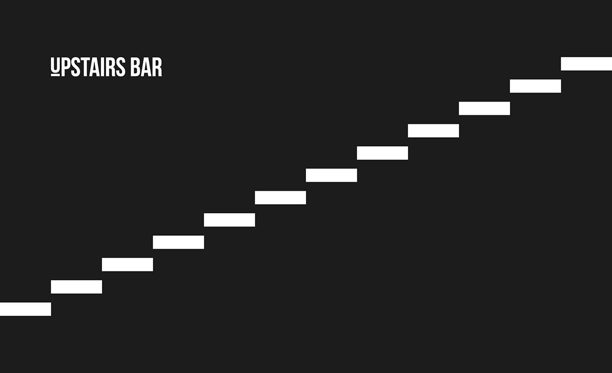 bar restuarant branding  monochrome simple