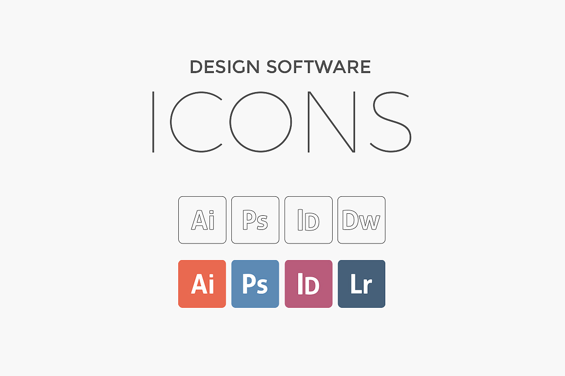 Free Design Software Icons on Behance