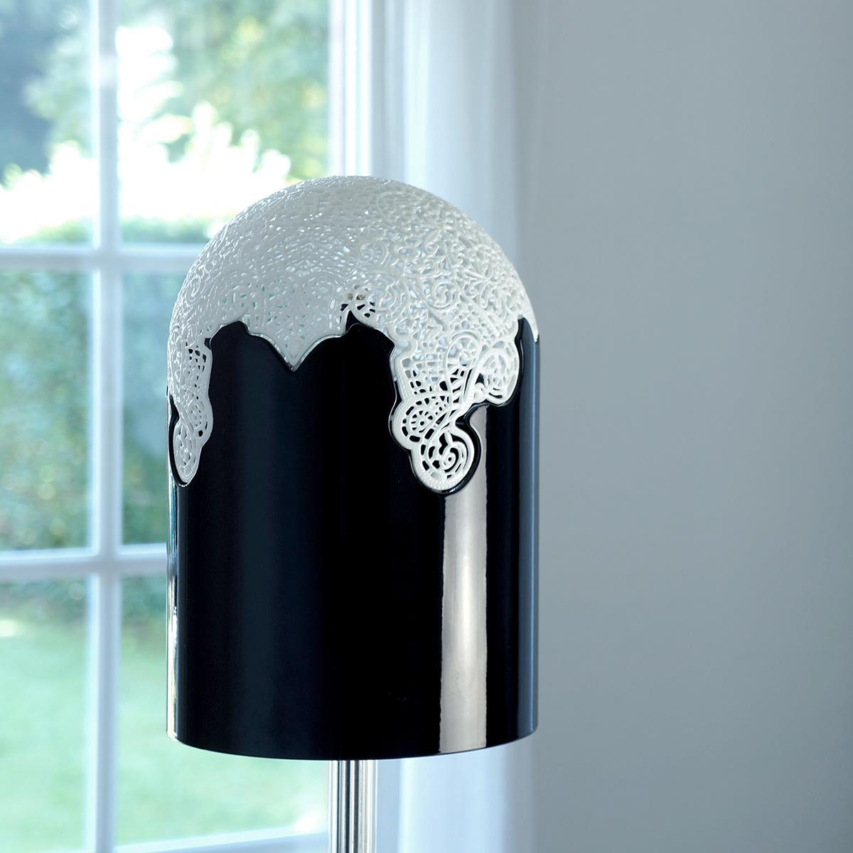Lamp light led lace rabbit plexi cristal black projection paris design week
