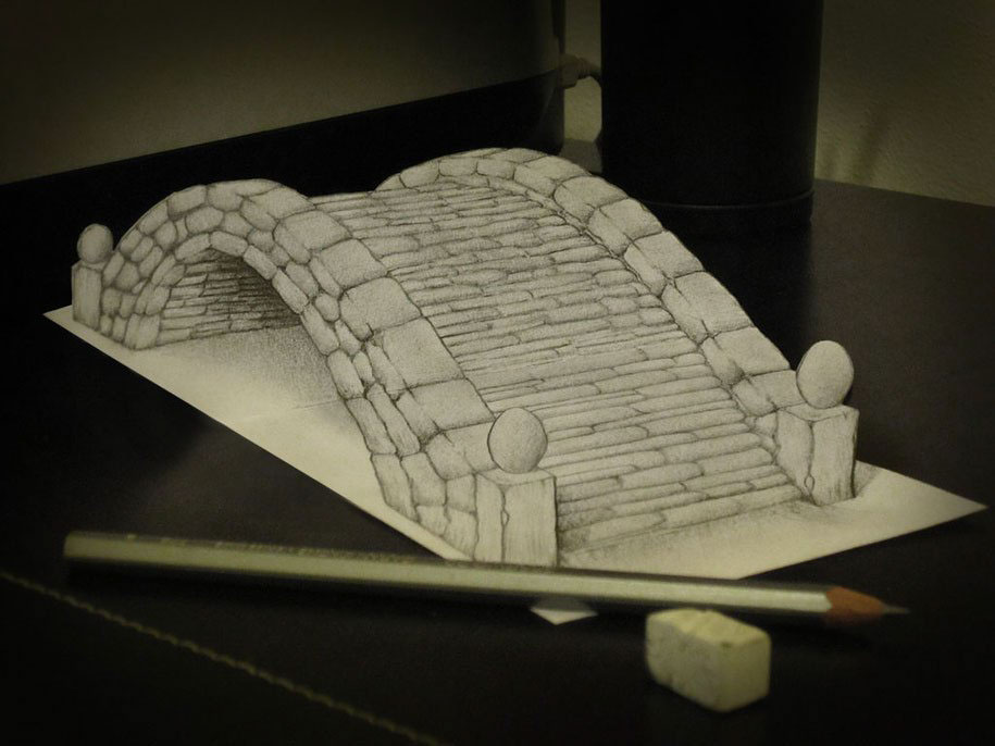 Alessandro Diddi amazing drawings Anamorphic 3D Illusion drawings awesome cool pictures Ramon Bruin - See more at: http://www.4urpics.com/2013/11/awesome-drawings-3d.html#sthash.XvfgpIp7.dpuf