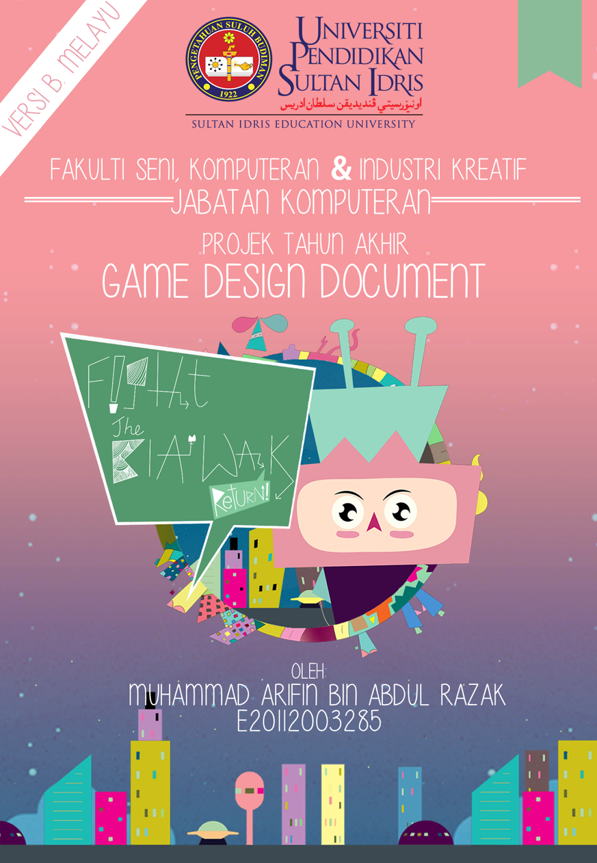 FYP Game Design Document Malay Version On Student Show - Contoh game design document