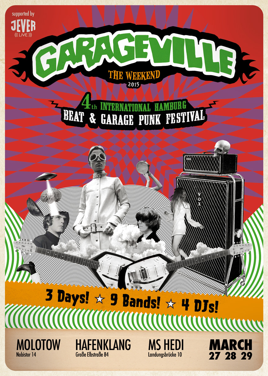 garage festival poster flyer record cover