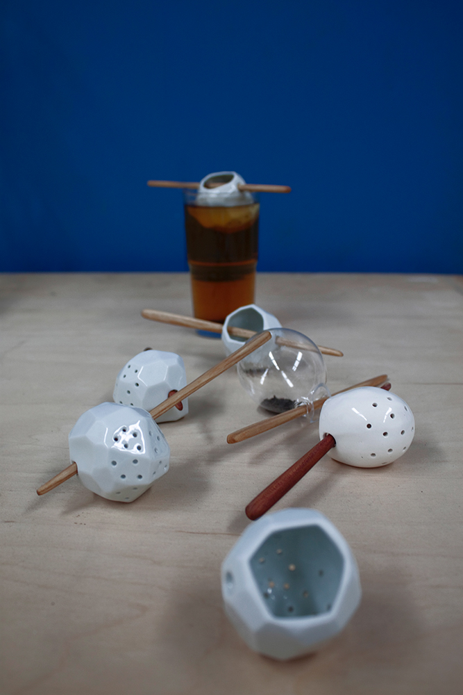tea infuser lea leaf wood porcelain glass material experiment combining Tea Time Cocoon iceberg polygon laboratory glass Serving Spoon albert