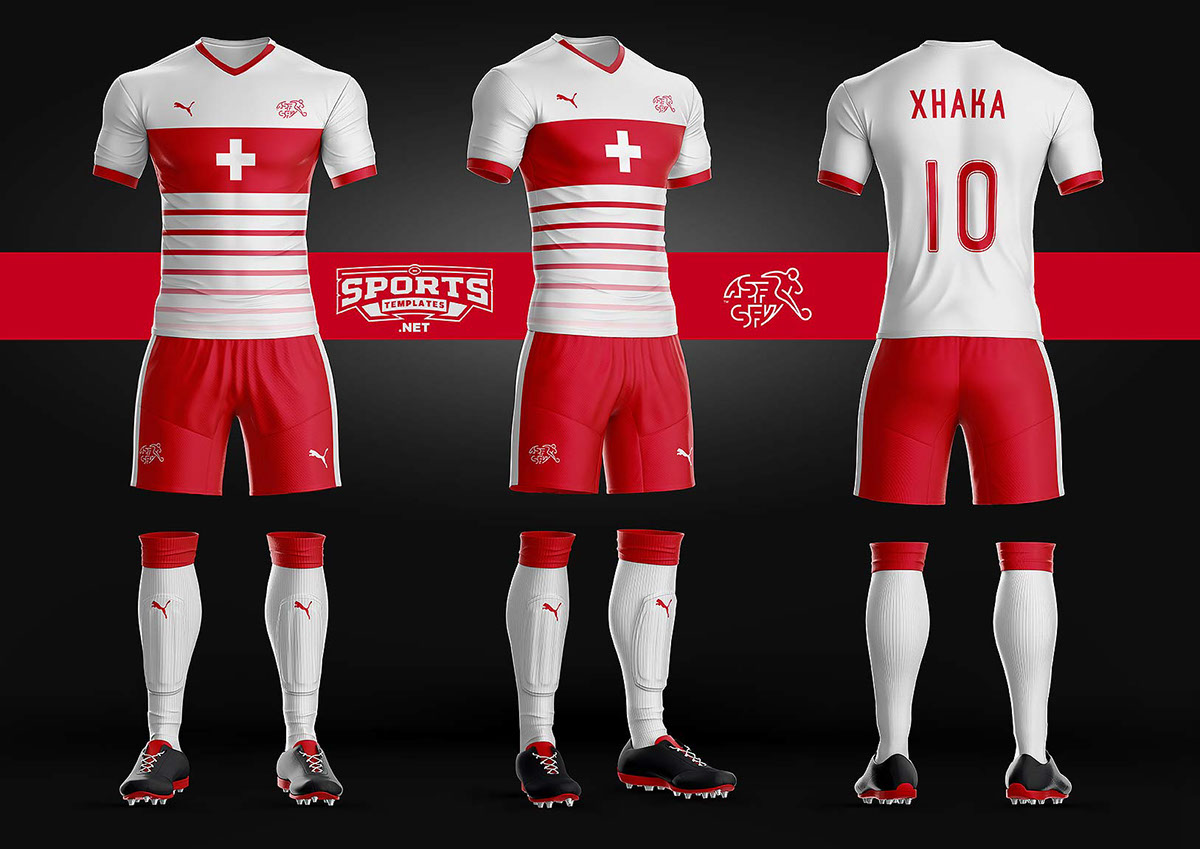 Goal Soccer Kit Uniform Template On Wacom Gallery
