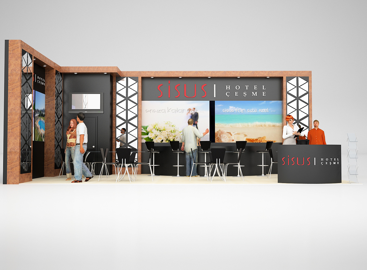 Tourism Exhibition Booth Design : Sisus hotel travel exhibition stand on behance