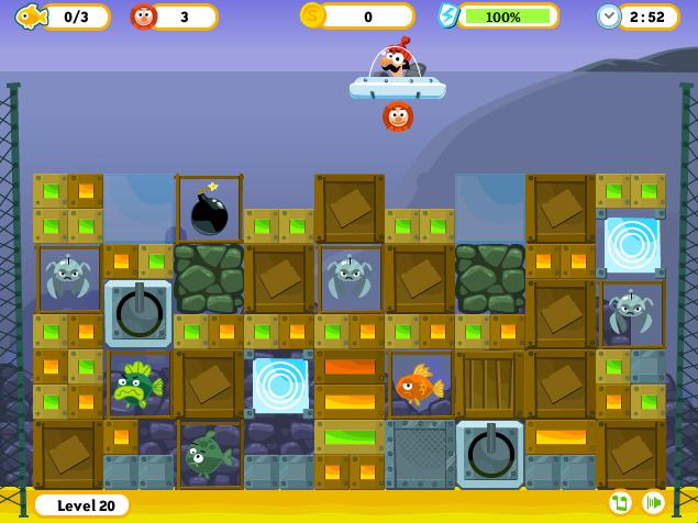 fishenoid Game Art underwater Flash game casual arkanoid game ui UI