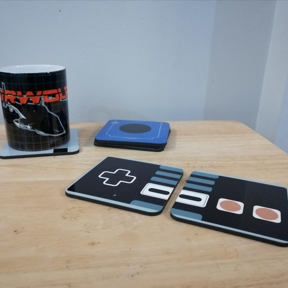 arcade coaster Gaming NES Retro SEGA vhs