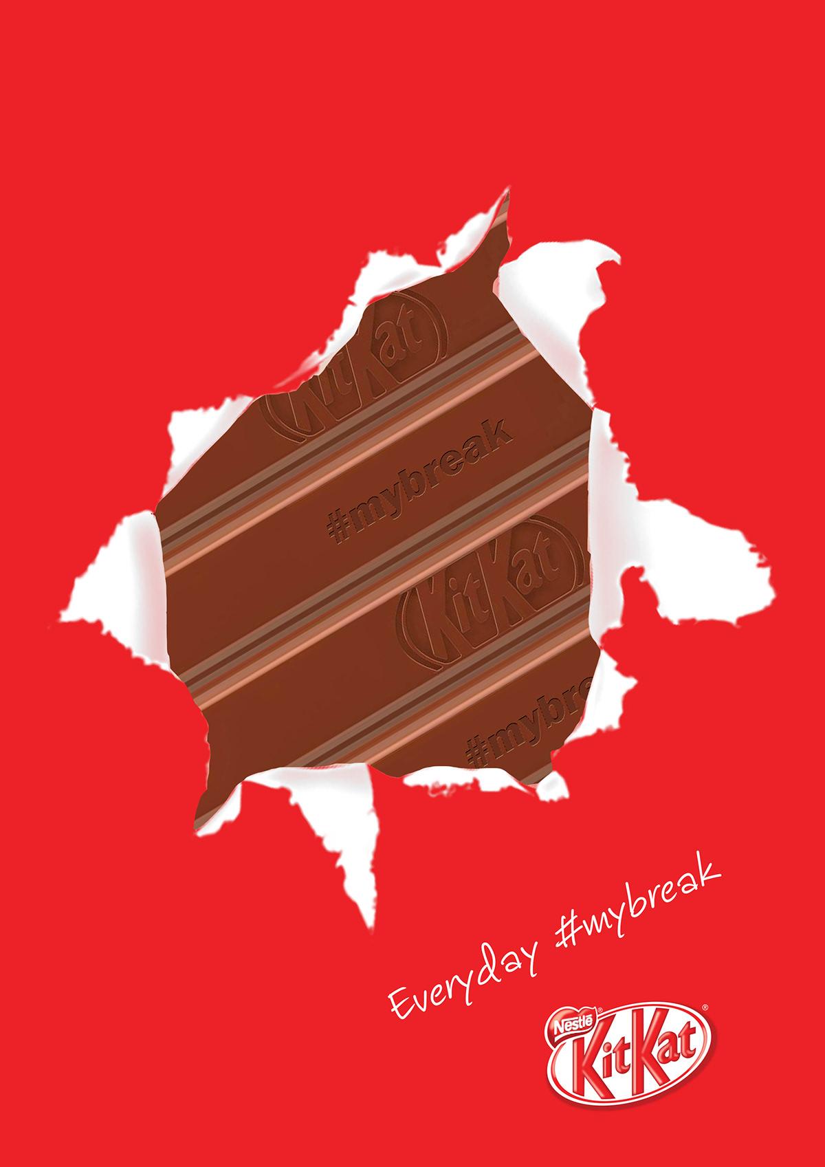 KitKat Ads kitkat ads creative adversting chocolate